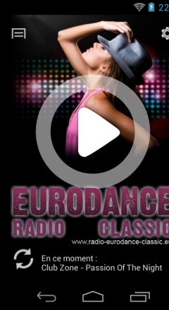 Application Android Radio Eurodance Classic